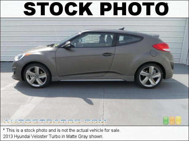 Stock photo for this 2013 Hyundai Veloster Turbo 1.6 Liter Turbocharged DOHC 16-Valve Dual-CVVT 4 Cylinder 6 Speed Shiftronic Automatic