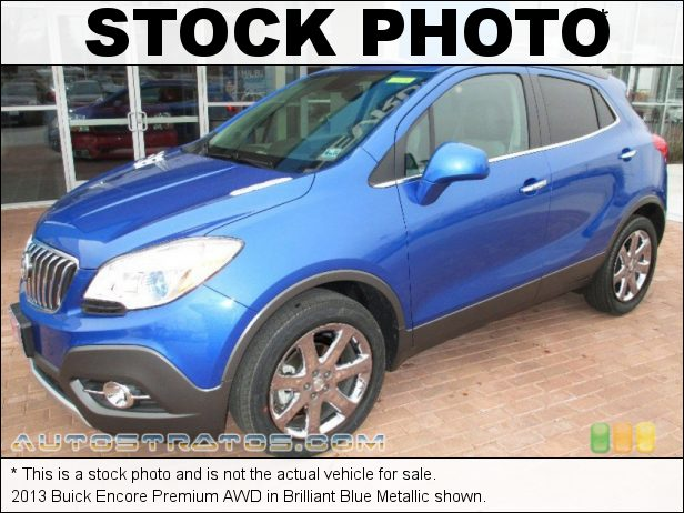 Stock photo for this 2013 Buick Encore Premium AWD 1.4 Liter ECOTEC Turbocharged DOHC 16-Valve VVT 4 Cylinder 6 Speed Automatic