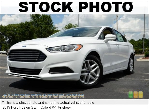 Stock photo for this 2013 Ford Fusion SE 2.5 Liter DOHC 16-Valve iVCT Duratec 4 Cylinder 6 Speed SelectShift Automatic