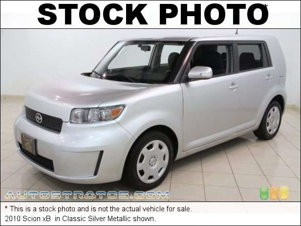 Stock photo for this 2010 Scion xB  2.4 Liter DOHC 16-Valve VVT-i 4 Cylinder 4 Speed Automatic