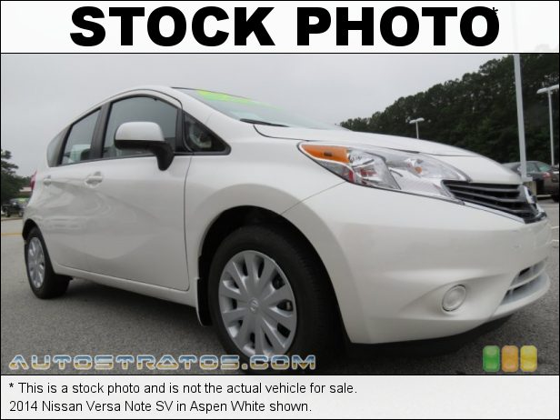 Stock photo for this 2014 Nissan Versa Note SV 1.6 Liter DOHC CVTCS 16-Valve 4 Cylinder Xtronic CVT Automatic