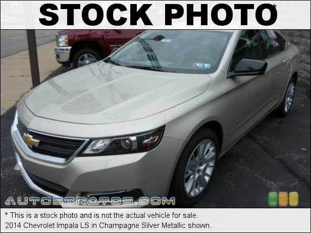 Stock photo for this 2014 Chevrolet Impala LS 2.5 Liter DI DOHC 16-Valve iVVL ECOTEC 4 Cylinder 6 Speed Automatic