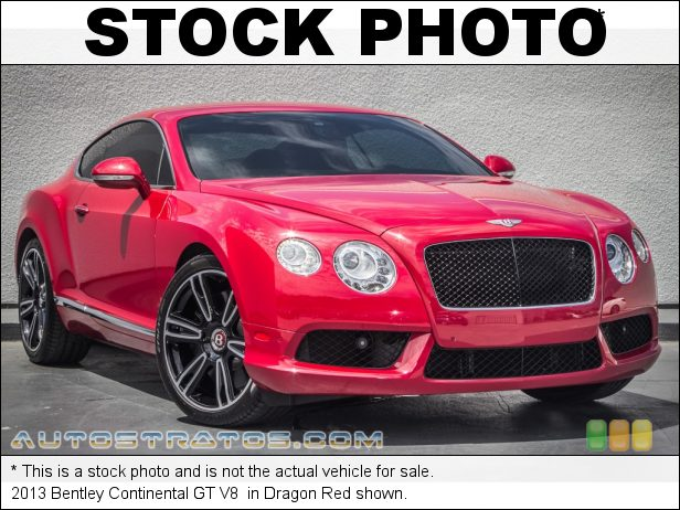 Stock photo for this 2013 Bentley Continental GT V8  4.0 Liter Twin Turbocharged DOHC 32-Valve VVT V8 8 Speed Automatic