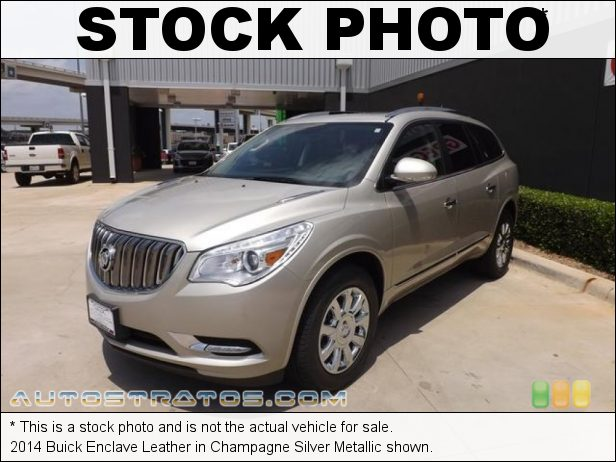Stock photo for this 2014 Buick Enclave Leather 3.6 Liter SIDI DOHC 24-Valve VVT V6 6 Speed Automatic