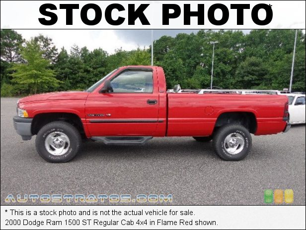 Stock photo for this 1997 Dodge Ram 1500 Regular Cab 4x4 5.2 Liter OHV 16-Valve V8 4 Speed Automatic