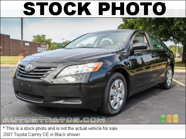 Stock photo for this 2007 Toyota Camry CE 2.4L DOHC 16V VVT-i 4 Cylinder 5 Speed Manual