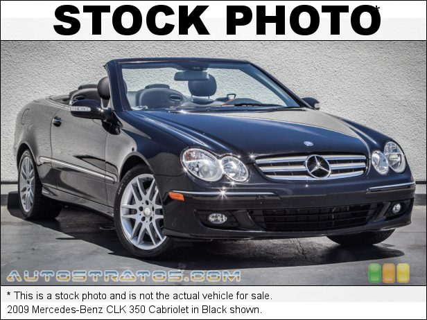 Stock photo for this 2009 Mercedes-Benz CLK 350 Cabriolet 3.5 Liter DOHC 24-Valve VVT V6 7 Speed Automatic