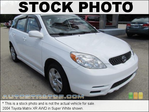 Stock photo for this 2004 Toyota Matrix XR AWD 1.8L DOHC 16V VVT-i 4 Cylinder 4 Speed Automatic