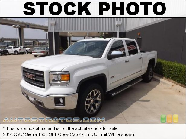 Stock photo for this 2014 GMC Sierra 1500 SLT Crew Cab 4x4 5.3 Liter DI OHV 16-Valve VVT EcoTec3 V8 6 Speed Automatic