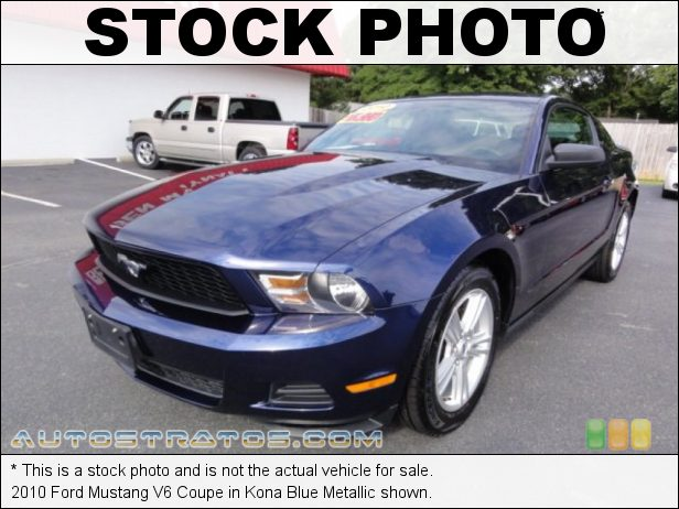 Stock photo for this 2010 Ford Mustang V6 Coupe 4.0 Liter SOHC 12-Valve V6 5 Speed Automatic