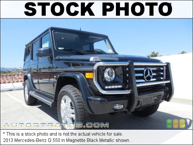 Stock photo for this 2013 Mercedes-Benz G 550 5.5 Liter DOHC 32-Valve VVT V8 7 Speed Automatic