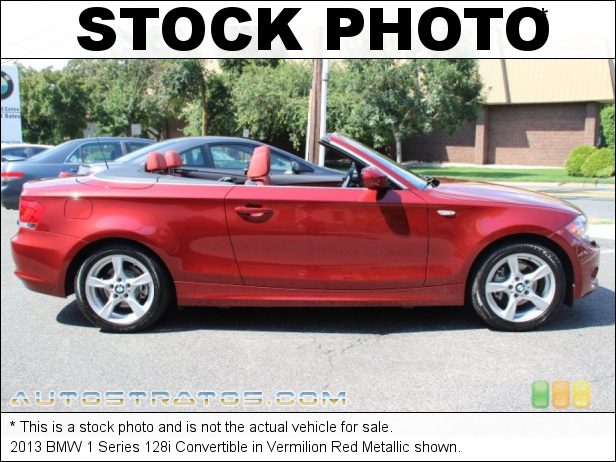 Stock photo for this 2013 BMW 1 Series 128i Convertible 3.0 liter DOHC 24-Valve VVT Inline 6 Cylinder 6 Speed Steptronic Automatic