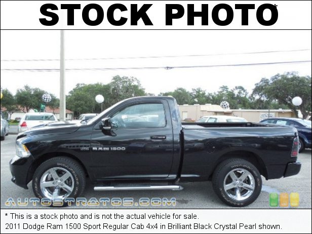 Stock photo for this 2011 Dodge Ram 1500 Regular Cab 4x4 5.7 Liter HEMI OHV 16-Valve VVT MDS V8 5 Speed Automatic