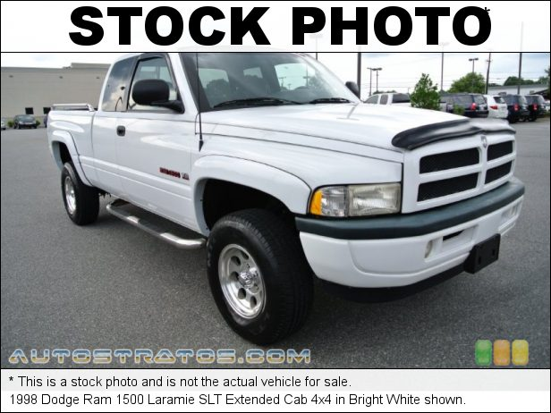 Stock photo for this 1998 Dodge Ram 1500 ST Extended Cab 4x4 5.9 Liter OHV 16-Valve V8 4 Speed Automatic
