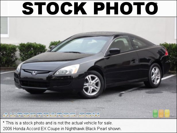 Stock photo for this 2004 Honda Accord EX Coupe 2.4 Liter DOHC 16-Valve i-VTEC 4 Cylinder 5 Speed Automatic