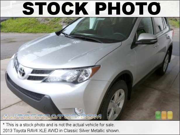 Stock photo for this 2013 Toyota RAV4 XLE AWD 2.5 Liter DOHC 16-Valve Dual VVT-i 4 Cylinder 6 Speed ECT-i Automatic