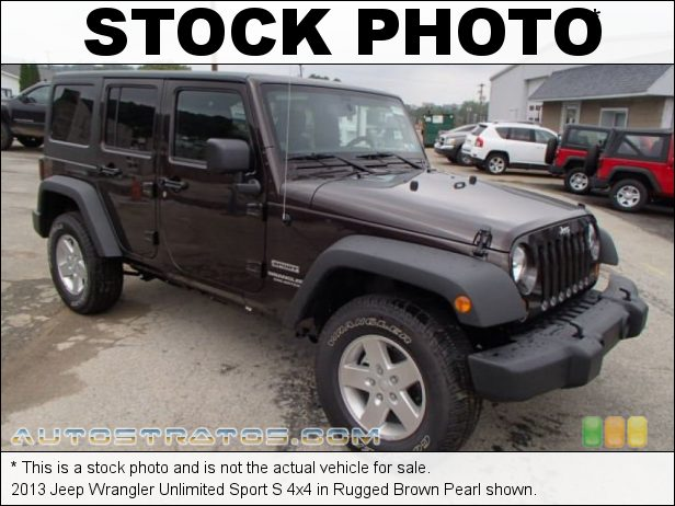 Stock photo for this 2013 Jeep Wrangler Unlimited 4x4 3.6 Liter DOHC 24-Valve VVT Pentastar V6 5 Speed Automatic