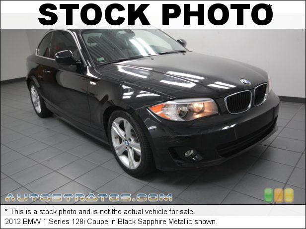 Stock photo for this 2012 BMW 1 Series 128i Coupe 3.0 Liter DOHC 24-Valve VVT Inline 6 Cylinder 6 Speed Steptronic Automatic