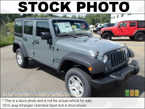 Stock photo for this 2014 Jeep Wrangler Unlimited Sport 4x4 3.6 Liter DOHC 24-Valve VVT V6 6 Speed Manual