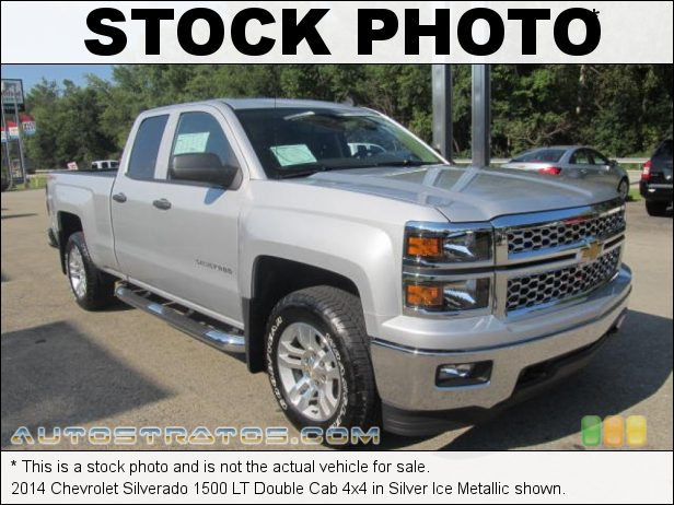 Stock photo for this 2014 Chevrolet Silverado 1500 LT Double Cab 4x4 5.3 Liter DI OHV 16-Valve VVT EcoTec3 V8 6 Speed Automatic