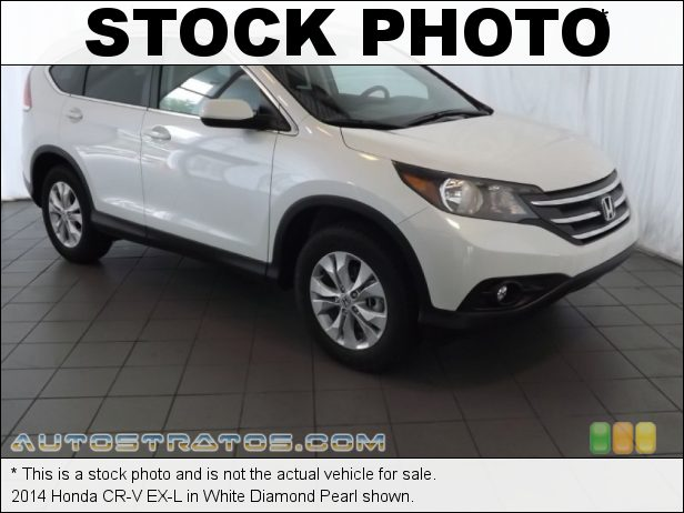 Stock photo for this 2014 Honda CR-V EX-L 2.4 Liter DOHC 16-Valve i-VTEC 4 Cylinder 5 Speed Automatic