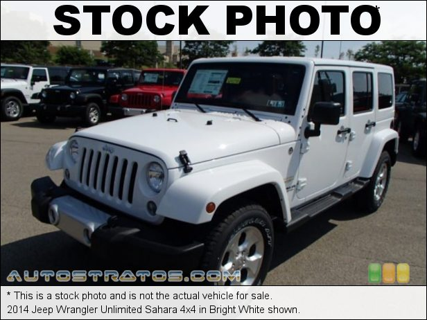 Stock photo for this 2014 Jeep Wrangler Unlimited Sahara 4x4 3.6 Liter DOHC 24-Valve VVT V6 6 Speed Manual