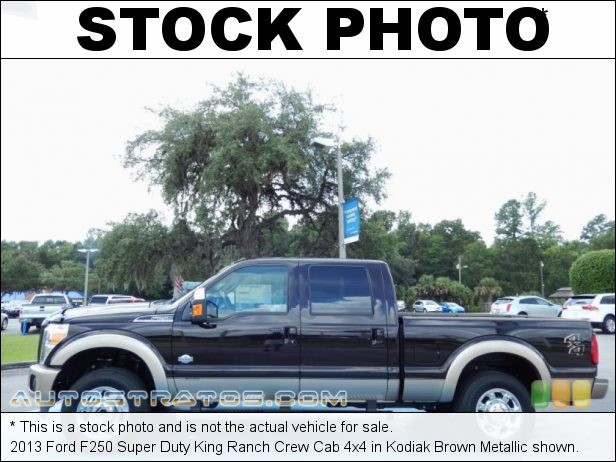 Stock photo for this 2013 Ford F250 Super Duty Crew Cab 4x4 6.7 Liter OHV 32-Valve B20 Power Stroke Turbo-Diesel V8 TorqShift 6 Speed SelectShift Automatic