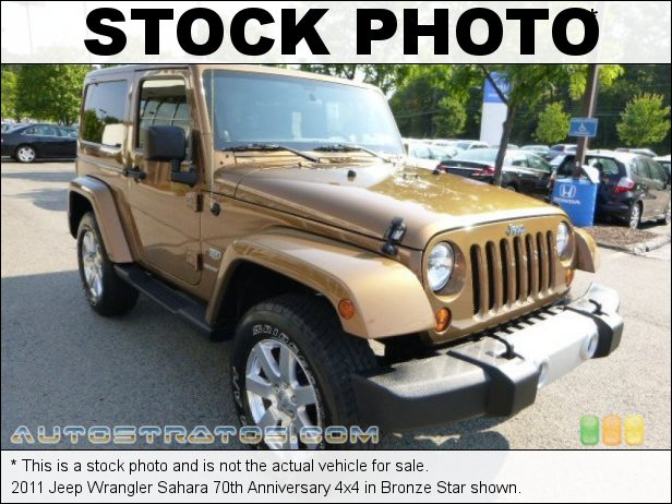 Stock photo for this 2011 Jeep Wrangler 4x4 3.8 Liter OHV 12-Valve V6 4 Speed Automatic
