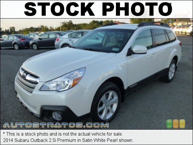 Stock photo for this 2014 Subaru Outback 2.5i Premium 2.5 Liter DOHC 16-Valve VVT Flat 4 Cylinder Lineartronic CVT Automatic