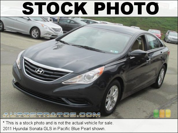 Stock photo for this 2011 Hyundai Sonata GLS 2.4 Liter GDI DOHC 16-Valve CVVT 4 Cylinder 6 Speed Shiftronic Automatic