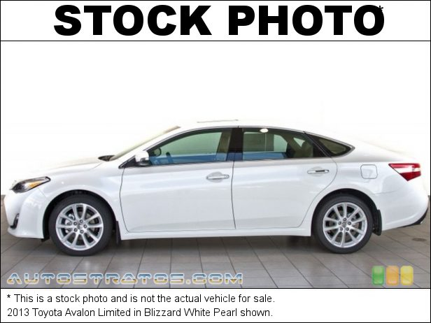 Stock photo for this 2013 Toyota Avalon Limited 3.5 Liter DOHC 24-Valve Dual VVT-i V6 6 Speed ECT-i Automatic