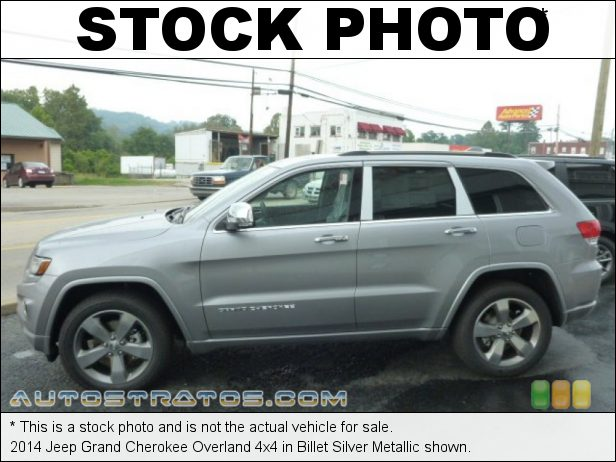 Stock photo for this 2014 Jeep Grand Cherokee Overland 4x4 3.6 Liter DOHC 24-Valve VVT Pentastar V6 8 Speed Automatic