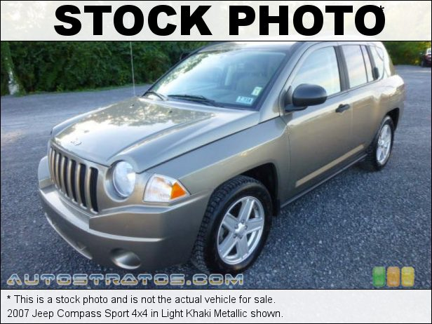 Stock photo for this 2007 Jeep Compass Sport 4x4 2.4 Liter DOHC 16-Valve VVT 4 Cylinder 5 Speed Manual