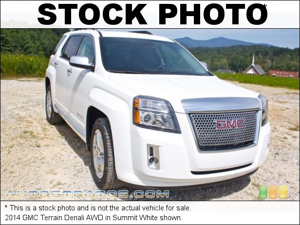 Stock photo for this 2014 GMC Terrain Denali AWD 2.4 Liter SIDI DOHC 16-Valve VVT 4 Cylinder 6 Speed Automatic