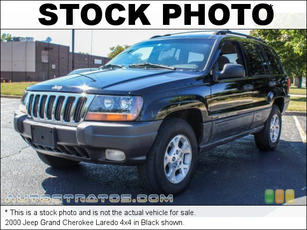 Stock photo for this 2000 Jeep Grand Cherokee Laredo 4x4 4.0 Liter OHV 12-Valve Inline 6 Cylinder 4 Speed Automatic