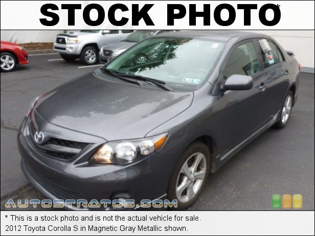 Stock photo for this 2012 Toyota Corolla S 1.8 Liter DOHC 16-Valve Dual VVT-i 4 Cylinder 4 Speed ECT-i Automatic
