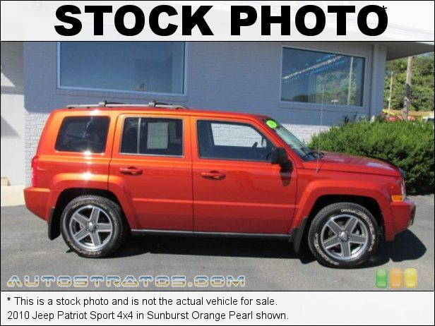 Stock photo for this 2010 Jeep Patriot Sport 4x4 2.4 Liter DOHC 16-Valve VVT 4 Cylinder CVT2 AutoStick Automatic