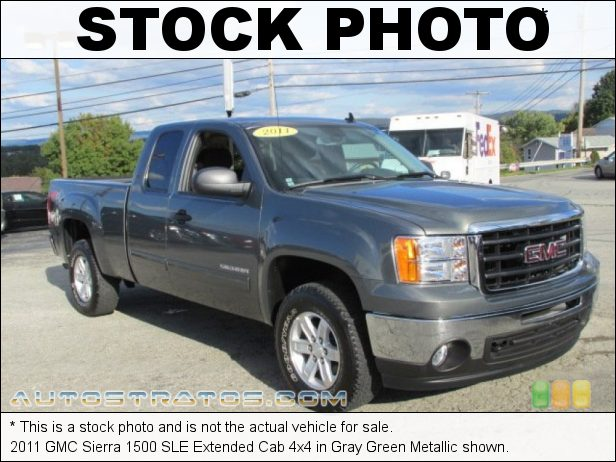 Stock photo for this 2011 GMC Sierra 1500 SLE Extended Cab 4x4 5.3 Liter Flex-Fuel OHV 16-Valve VVT Vortec V8 6 Speed Automatic