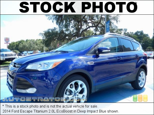 Stock photo for this 2014 Ford Escape Titanium 2.0L EcoBoost 2.0 Liter GTDI Turbocharged DOHC 16-Valve Ti-VCT EcoBoost 4 Cyli 6 Speed SelectShift Automatic