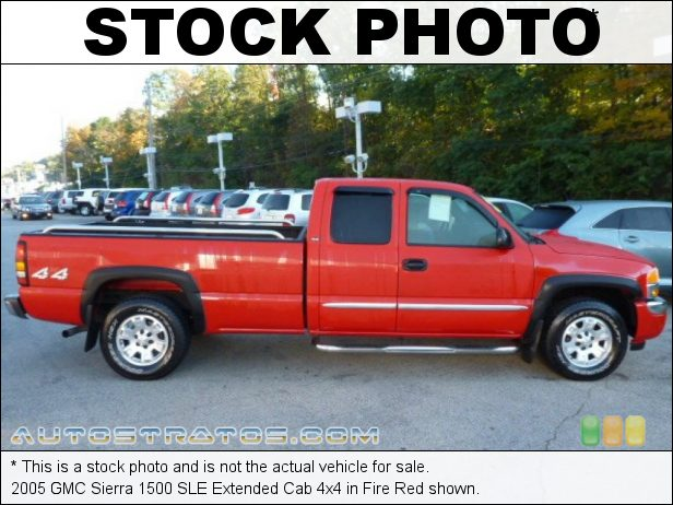 Stock photo for this 2005 GMC Sierra 1500 Extended Cab 4x4 5.3 Liter OHV 16-Valve Vortec V8 4 Speed Automatic