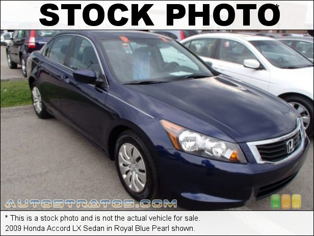 Stock photo for this 2009 Honda Accord LX Sedan 2.4 Liter DOHC 16-Valve i-VTEC 4 Cylinder 5 Speed Automatic