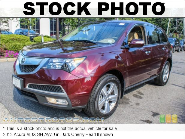 Stock photo for this 2012 Acura MDX SH-AWD 3.7 Liter SOHC 24-Valve VTEC V6 6 Speed Sequential SportShift Automatic