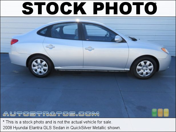 Stock photo for this 2008 Hyundai Elantra Sedan 2.0 Liter DOHC 16-Valve VVT 4 Cylinder 4 Speed Automatic