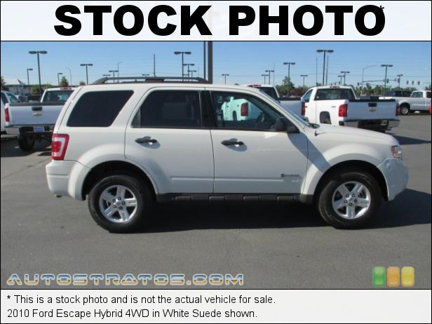 Stock photo for this 2012 Ford Escape Hybrid 4WD 2.5 Liter Atkinson Cycle DOHC 16-Valve Duratec 4 Cylinder Gasoli eCVT Automatic