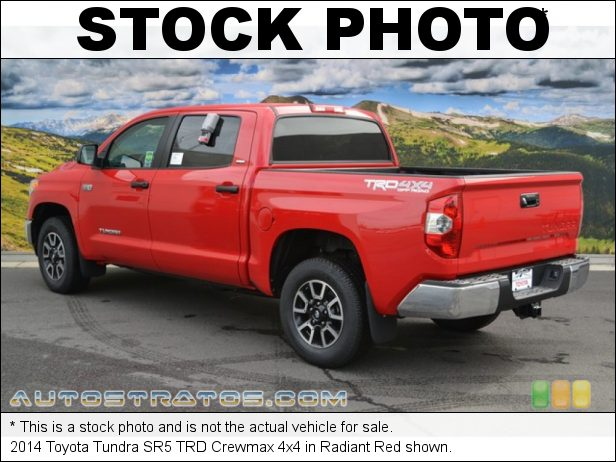 Stock photo for this 2014 Toyota Tundra SR5 Crewmax 4x4 5.7 Liter DOHC 32-Valve Dual VVT-i V8 6 Speed Automatic