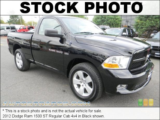 Stock photo for this 2012 Dodge Ram 1500 ST Regular Cab 4x4 5.7 Liter HEMI OHV 16-Valve VVT MDS V8 6 Speed Automatic