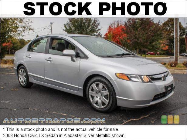 Stock photo for this 2008 Honda Civic LX Sedan 1.8 Liter SOHC 16-Valve 4 Cylinder 5 Speed Automatic