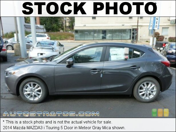 Stock photo for this 2014 Mazda MAZDA3 i Touring 5 Door 2.0 Liter SKYACTIV-G DI DOHC 16-valve VVT 4 Cyinder SKYACTIV-Drive 6 Speed Automatic