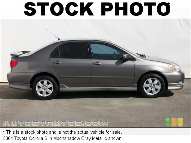 Stock photo for this 2004 Toyota Corolla S 1.8 Liter DOHC 16-Valve VVT-i 4 Cylinder 4 Speed Automatic