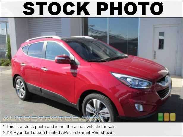 Stock photo for this 2014 Hyundai Tucson Limited AWD 2.4 Liter GDI DOHC 16-Valve CVVT 4 Cylinder 6 Speed Shiftronic Automatic